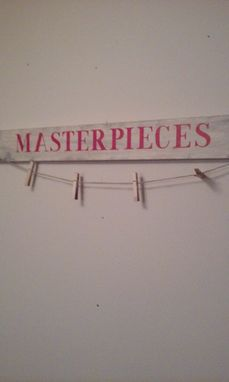 Custom Made Masterpieces Sign To Hang Children's Artwork