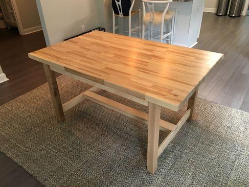 custom birch butcher block dining tablethe plane edge