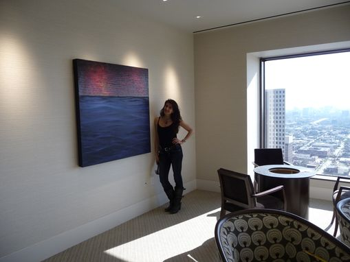 Custom Made Abstract Art Custom Installation - 15 Paintings - Global Energy Investment Company, Houston, Tx