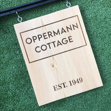 Custom Made Laser Engraved Outdoor Sign
