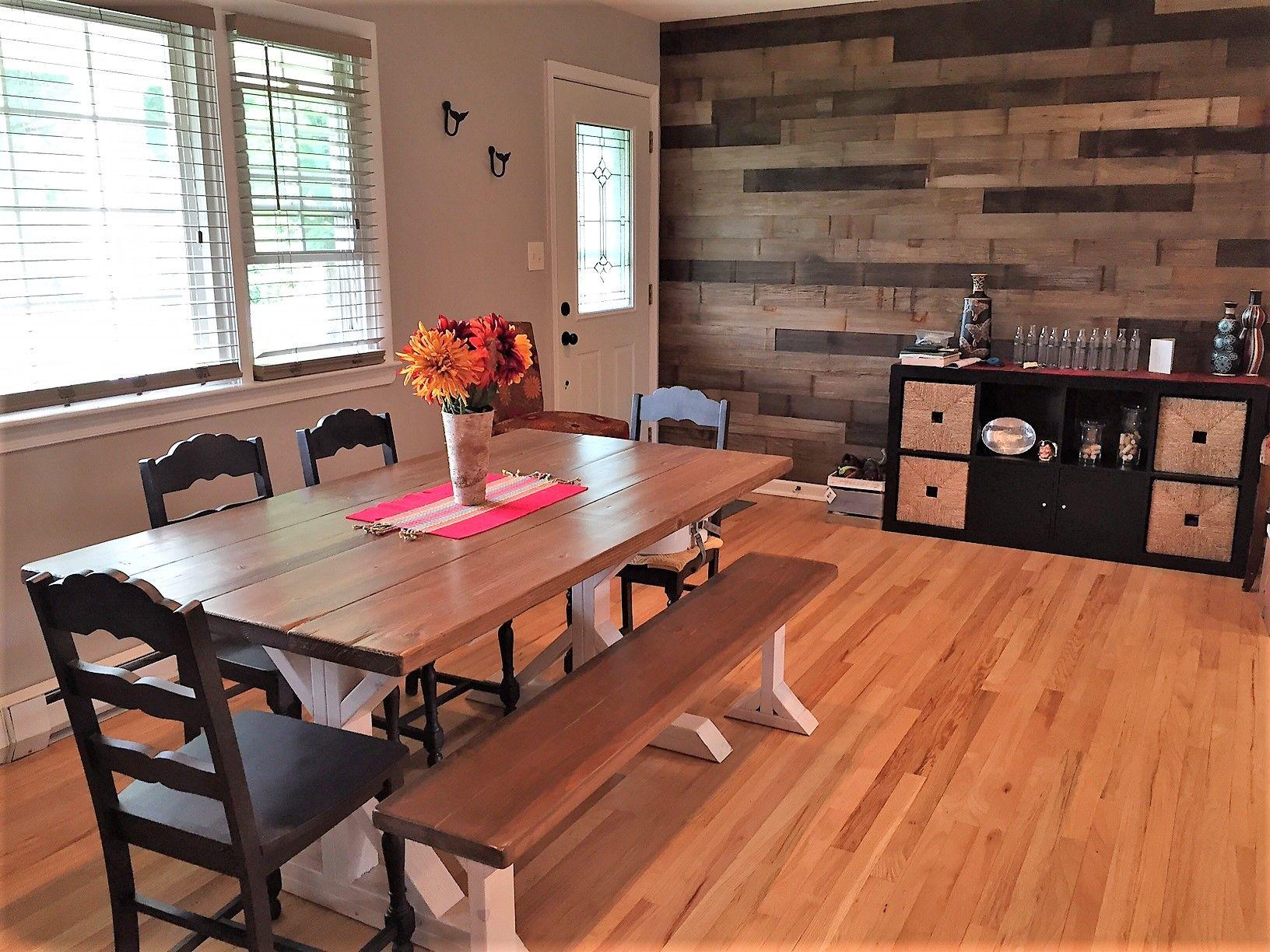 Buy a Hand Made Rustic Farmhouse Farm Trestle Dining Table ...