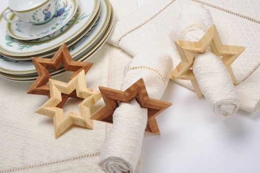 Custom Made 6-Point Bamboogems Star Napkin Ring