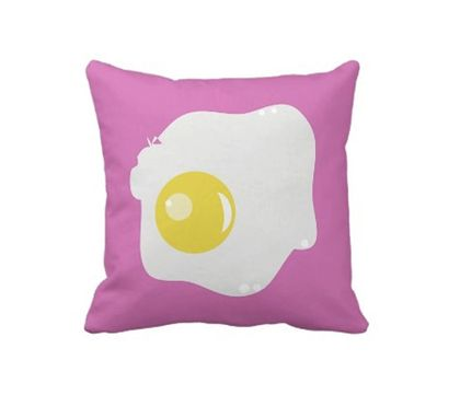 Custom Made Egg Pillow Pink - Dinning Room Pillow - Colorful Fun Pillow
