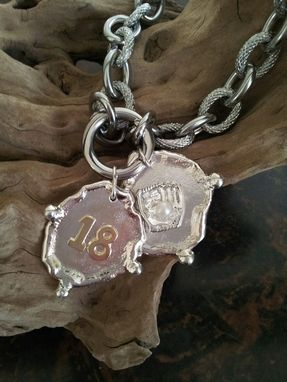 Custom Made Sally's Baseball Charm Necklace In Silver And Gold