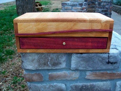 Custom Made Solid Wooden Jewelry Box