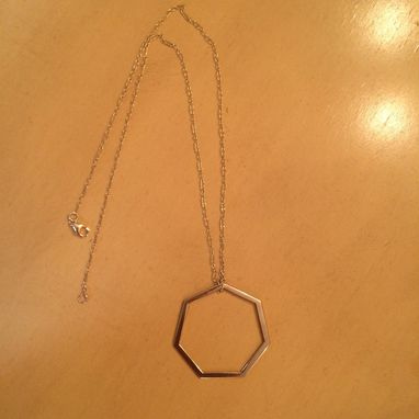 Custom Made Gold Pendant Heptagon