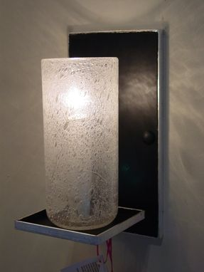 Custom Made Blown Bubble Glass Wall Sconce