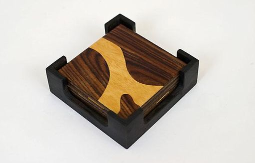 Custom Made Parquetry Coasters