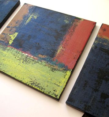 Custom Made Original Abstract Paintings On Canvas Triptych In Earthtones