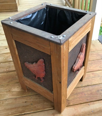 Custom Made Chicken Planter Ready Now $245