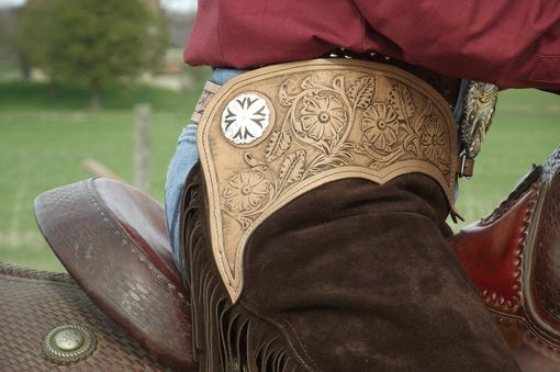 Custom Made Custom Chaps With Tooled Yolks