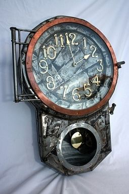 Custom Made Steampunk Schoolhouse Clock