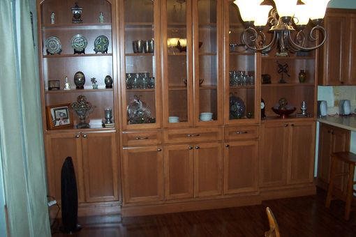 Custom Made Beech China Hutch & Reveneer Kitchen