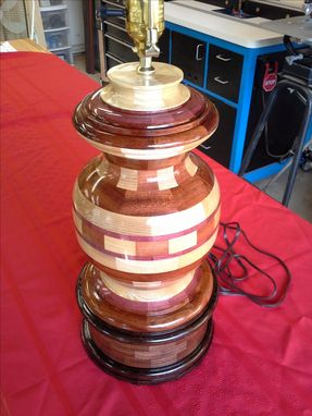 Custom Made Woodturned Table Lamp