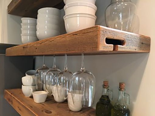 Custom Made Rustic Floating Shelves
