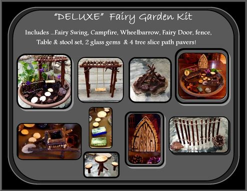 Custom Made Fairy Swing,Fairy Garden Swing,Fairy Furniture,Fairy Garden Kits
