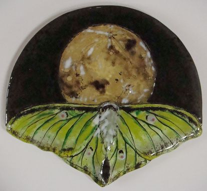 Custom Made Trans Lunar Moth - Glass Fusing Artwork