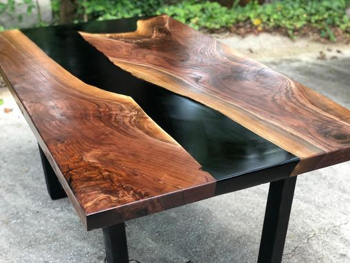 Custom Made Handcrafted Walnut River Table