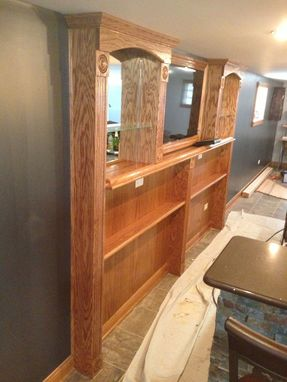Custom Made Behind Bar Shelving And Drink Ledge