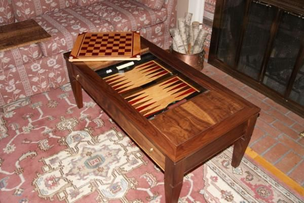 hand made formal coffee table converts to game table by. Black Bedroom Furniture Sets. Home Design Ideas