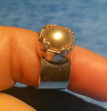 Custom Made Pink Pearl Ring