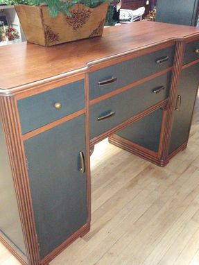 Custom Made Painted Art Deco Buffet