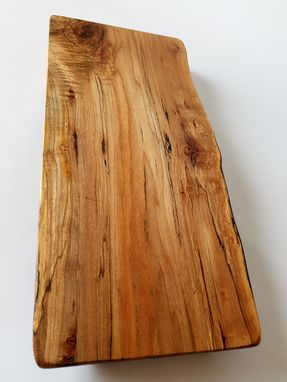 Custom Made Serving Board- Charcuterie Board- Natural Wood Server- Spalted Maple- Burl- Cutting Board