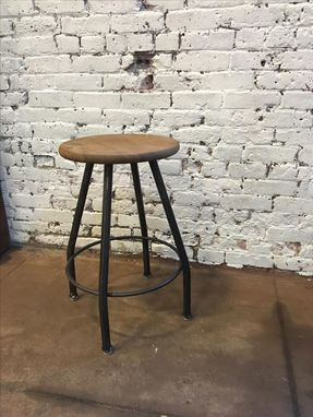 Custom Made Bar Stools Metal And Wood, Handmade Bar Stools