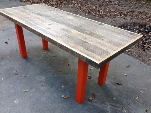 Custom Made Graywood Reclaimed Wood Dining Table