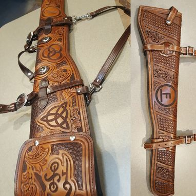 Custom Made Fully Tooled Rifle Scabbards