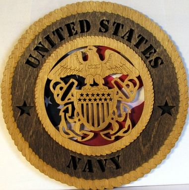 Custom Made Navy Wall Plaque