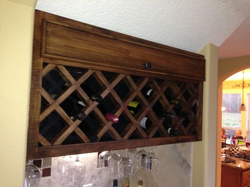 Industrial Wine Rack Wall