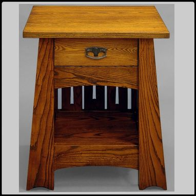 Custom Made Ash Mackintosh Nightstand / End Table