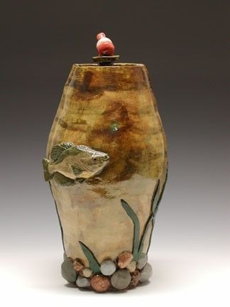 Hand Crafted Cremation Urn For The Fisherman By Odyssey