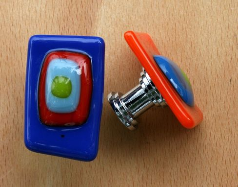 Custom Made Fused Glass Knobs 1