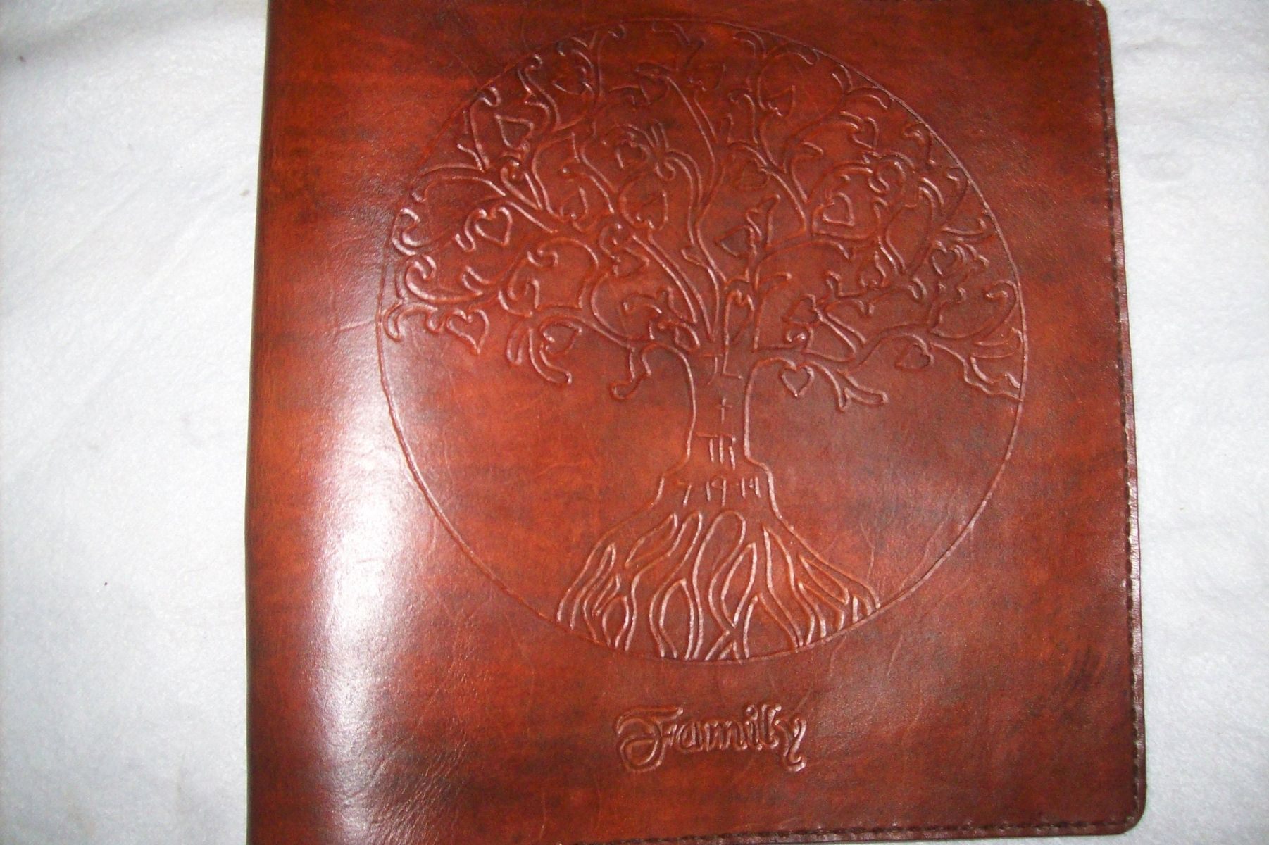 Buy A Hand Crafted Custom Leather Photo Albumscrapbook Made To