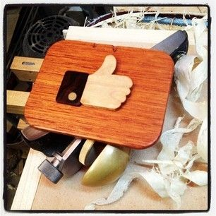 Custom Made Wooden Facebook Like Thumbs Up