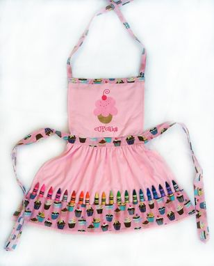 Custom Made Little Girl's Cupcake Crayon Play Apron