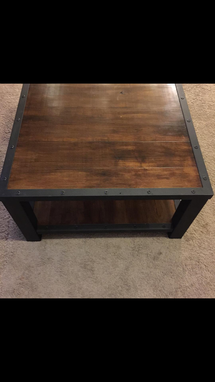 Custom Made Coffee Table,Industrial,Wood Table,Living Room,Office