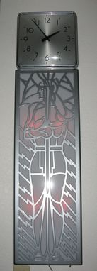 Custom Made Custom Art Deco, Machine Age  Wall Clock Inspired By Powhatan Apartment Doors