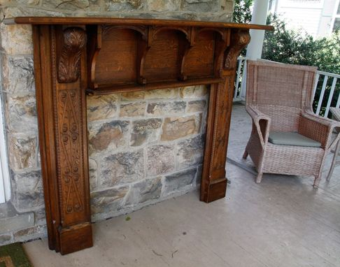 Custom Made Oak Mantle Restoration