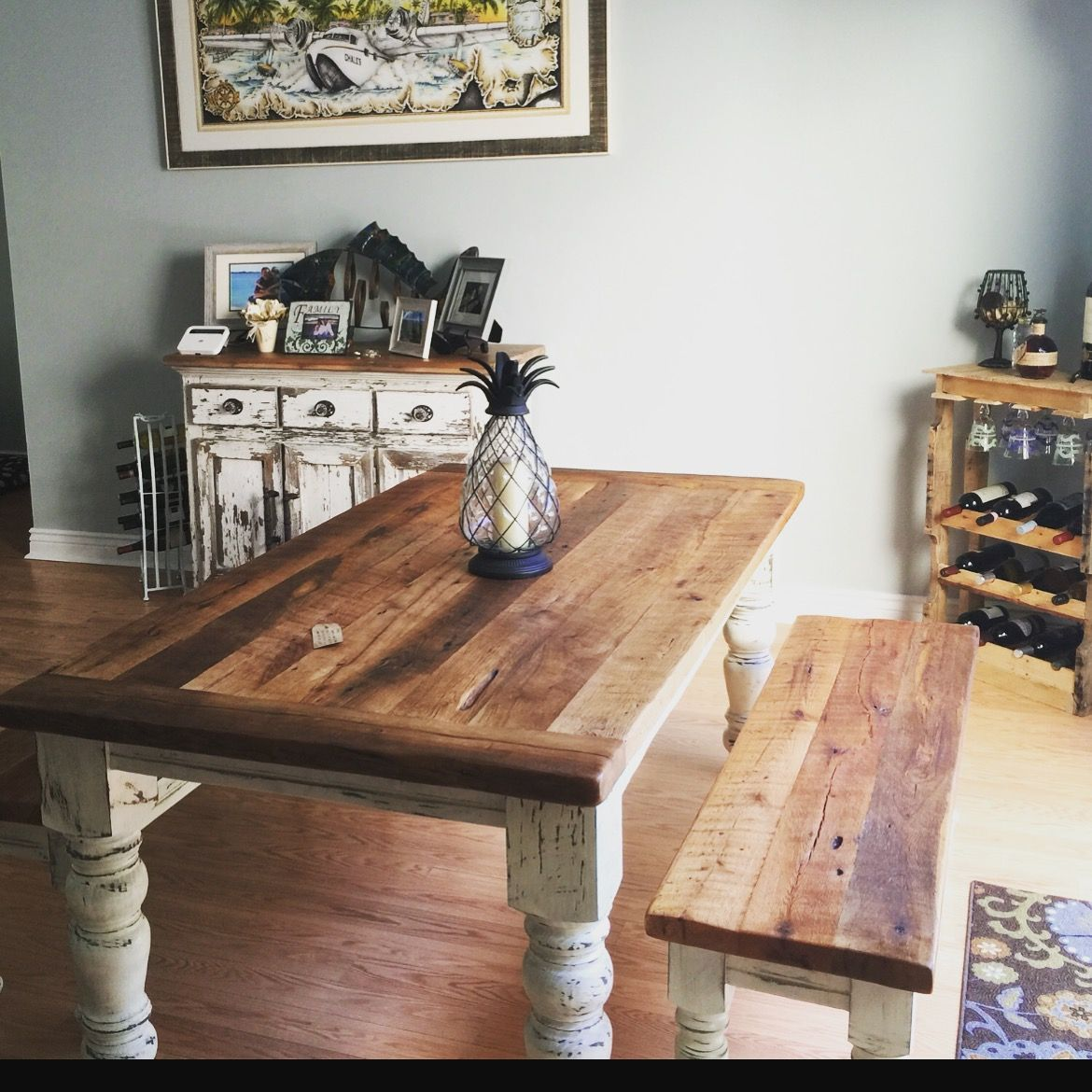 Buy A Custom 6 Foot Farmhouse Table Set Made To Order
