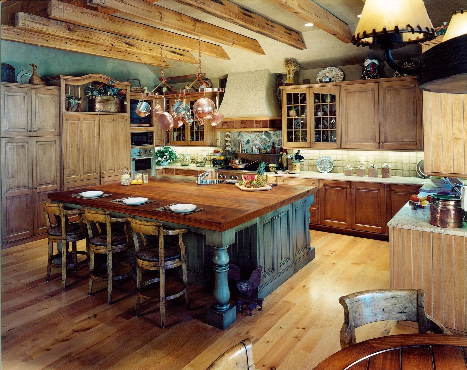 Custom Rustic Kitchens Magnificent Custom Rustic Mountain Kitchen & Diningcabinets & Design Iron Inspiration