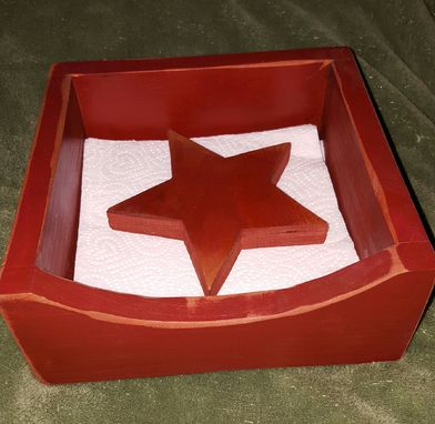 Custom Made Napkin Box W/ Star