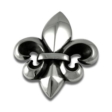Custom Made Fleur De Lis Buckle Sterling Silver Belt Buckle
