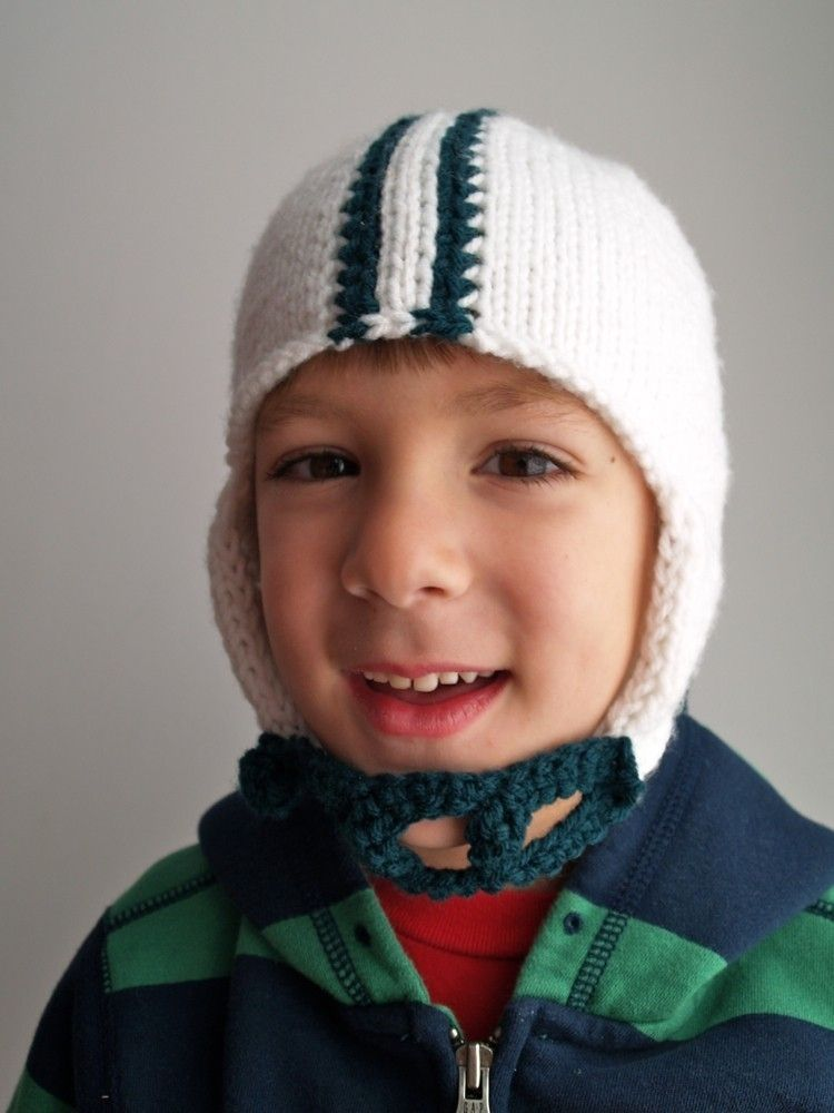 Handmade Knit Pattern Football Helmet Hat Pdf by Tracey Knits ...