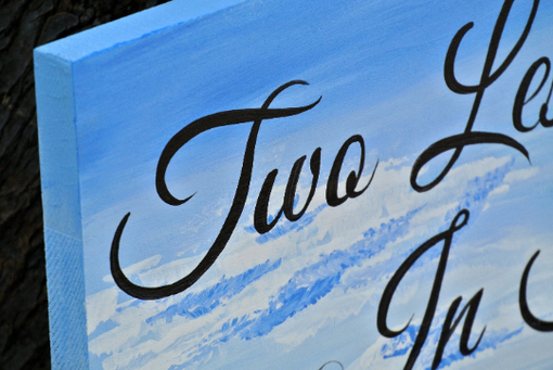 Custom Made Two Less Fish In The Sea Signage, Beach Wedding Decor Name Sign