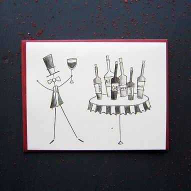 Custom Made Wine Notes Stationery Set