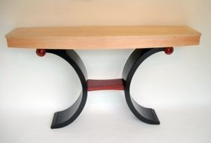Custom Made Contemporary Bowed Front Table