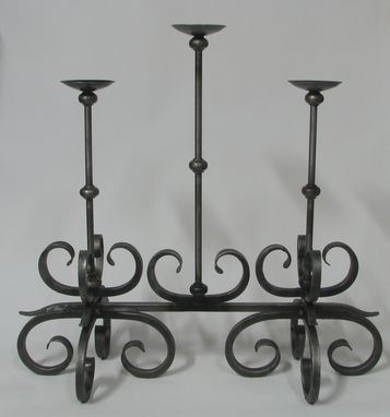 Custom Made Scroll Candelabrum